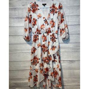 Espresso floral print dress